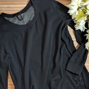 Torrid Lace Up Sides Crewneck Sweatshirt